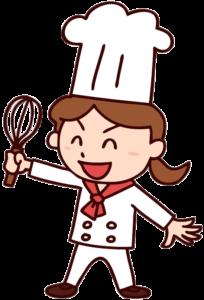 女性料理人のイラスト