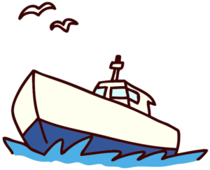 漁船のイラスト