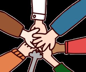 一致団結のイラスト