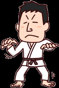 柔道家のイラスト