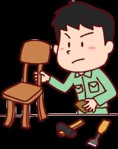 家具職人のイラスト