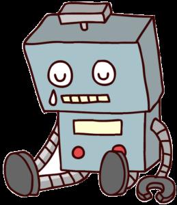 壊れたおもちゃのロボットのイラスト