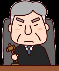 ベテラン裁判官のイラスト