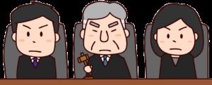 裁判官のイラスト(3人)