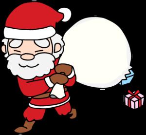 サンタさんのイラスト(おっちょこちょい)