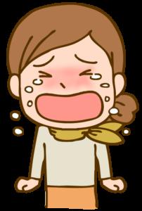 号泣する女性のイラスト
