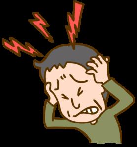 激しい頭痛に襲われるイラスト