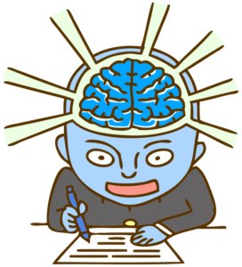 脳の力が覚醒した男性のイラスト