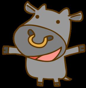 笑う黒毛和牛のイラスト
