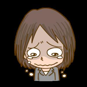 ポロポロと泣く女性のイラスト