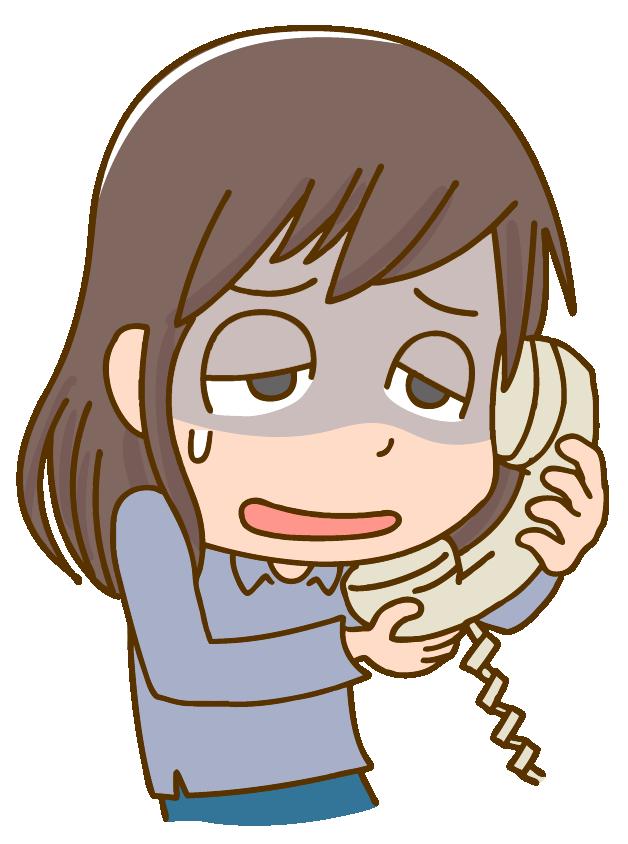 悩み相談に電話する女性