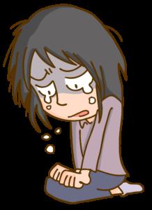 絶望して泣く女性