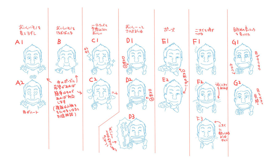 キャラクターセットラフ